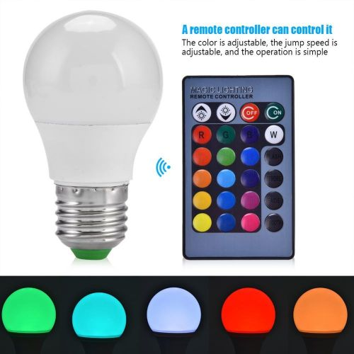 New E27 RGB Light Bulb Color Changing Home Party Decoration Lamp With 24 Key Remote Control