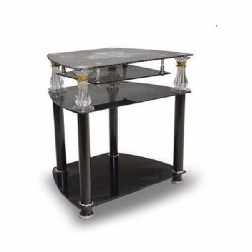 Glass Stand For TV And Home Theatre - Black