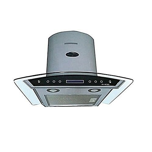 90cm Heat/Smoke Extractor Cooker Hood Glass Curved PV-HFD90