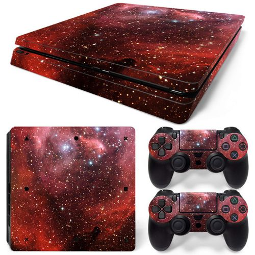 Sticker For Sony PS4 SLIM Console Decal Cover Skin Set