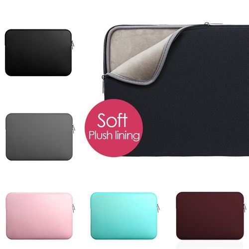 11 13 14 15.6 Inch Laptop Sleeve Case For Macbook Air Pro Ultra-book Notebook Computer Protector Soft Plush Lining Zipper Bag