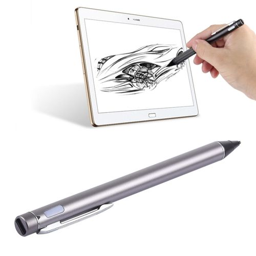 Universal Rechargeable Capacitive Touch Screen Stylus Pen With 2.3mm Superfine Metal Nib, For IPhone, IPad, Samsung, And Other Capacitive Touch Screen Smartphones Or Tablet PC (Grey)