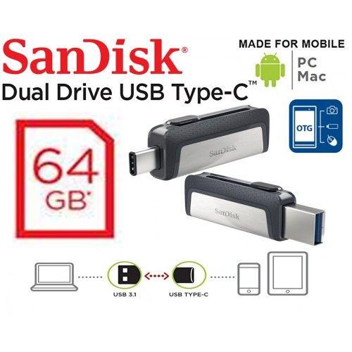64GB Ultra Dual USB Type-C OTG (SDDDC2-64G-G46)