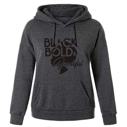 Black Bold & Beautiful Hoodie- Dark Grey