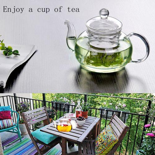 Heat Resistant Clear Glass Teapot Infuser Flower Tea Coffee Leaf Herbal Pot