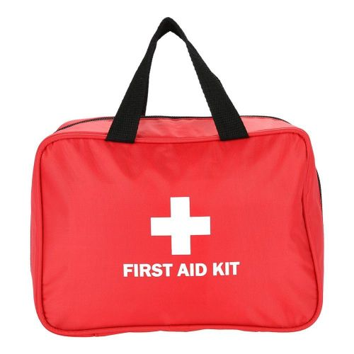 Home Outdoor Travelling Medical Storage Box Case First Aid Bag Emergency Red