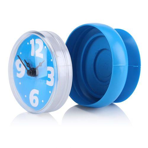 Wall Clock, Jadpes Suction Waterproof Wall Window Mirror Bath Shower Clock Bathroom Accessories