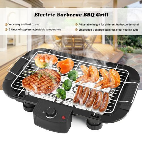 2000W Smokeless Electric Barbeque Grill BBQ Teppanyaki Griddle Meat Beef