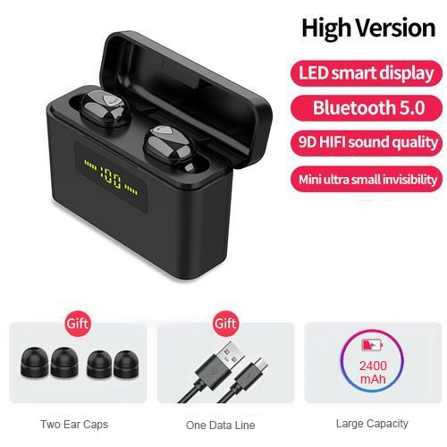 Bluetooth 5.0 Earphones 2200mAh Charging Box Wireless Headphone Waterproof Earbuds Headsets With Microphone