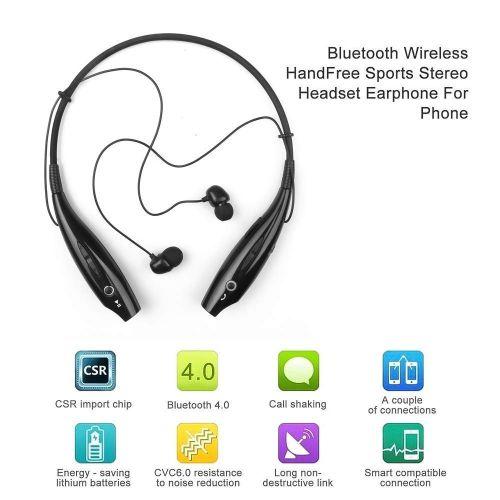 HBS-730 Sports Bluetooth Headphone With Mic Bass Earphone- Black
