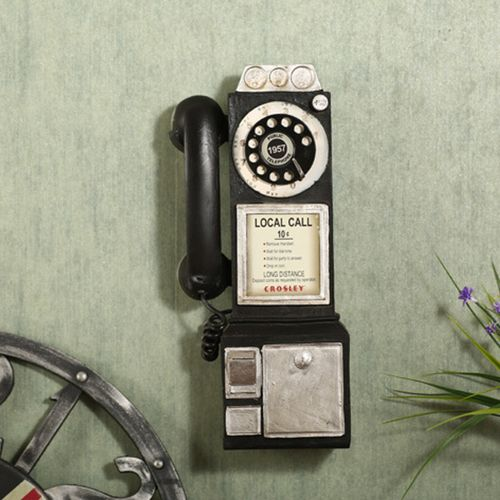 1950's Old Fashion Rotary Classic Look Dial Pay Phone Model Vintage Booth