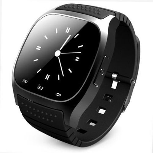 Smart Bluetooth Watch Smartwatch M26 With LED Display Barometer Alitmeter Music Player Pedometer For Android IOS Mobile Phone Black