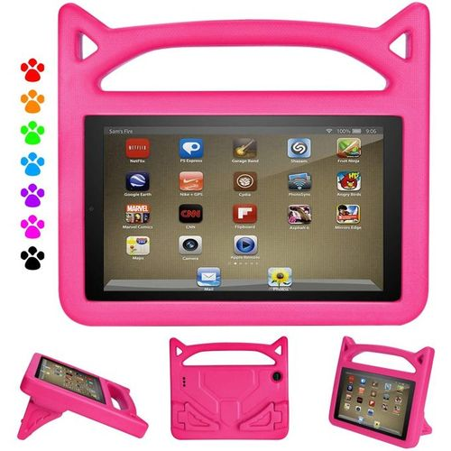 Fire HD 8 Inches 32GB Storage 2GB RAM Educational Kids Tablet + Proof Case - Pink