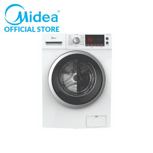 7kg Front Load Washing Machine- White With Inverter Motor