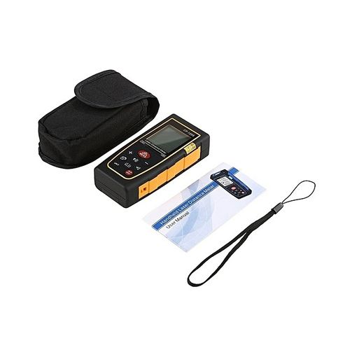 TA-CP-120S 120M Laser Distance Meter Digital LCD Backlight Laser Range Finder Black Orange