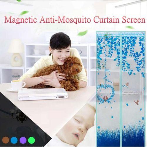 Magic Mesh Magnetic Screen Door Mosquito Net Curtain Window