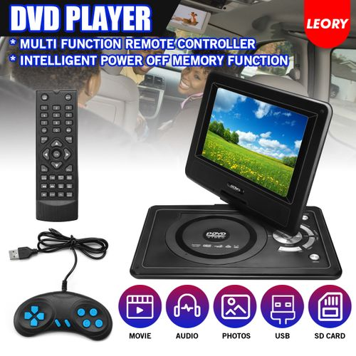 12.4'' Portable DVD Player 270? Swivel Screen DVD USB SD + Remote Control Car