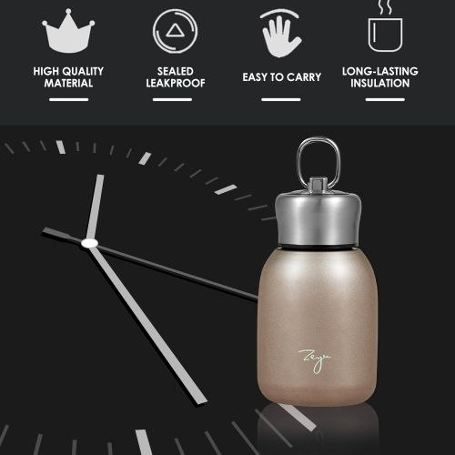 Water Bottle Stainless Steel Matte 300ml Vacuum Insulated