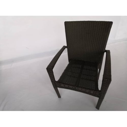 Iron Frame Rattan Material Chair With Armrest