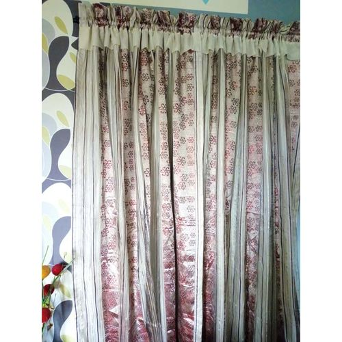 Curtain Window Treatment , 2-Piece Dazzling Organza Fabric, 72inches Wide: 92inches Length Drop