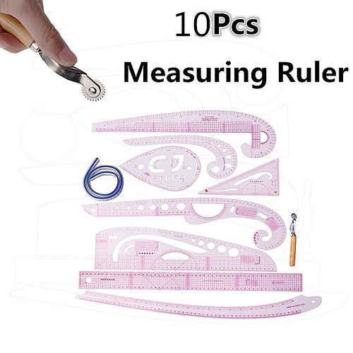10 Style Multi Soft Design Drawing Comma Line Straight French Curve Ruler Set