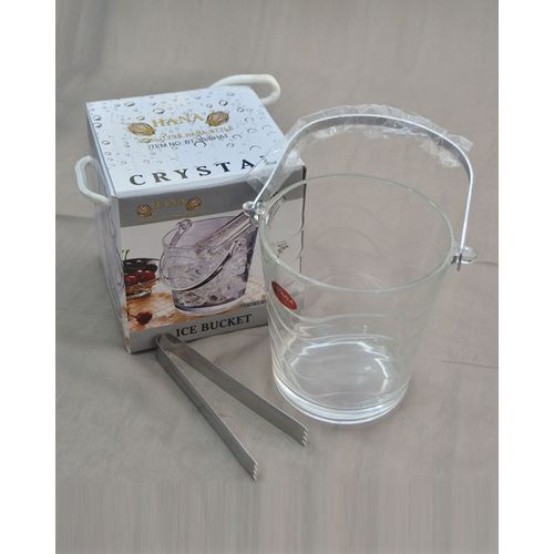 Glass Ice Bucket With Tong