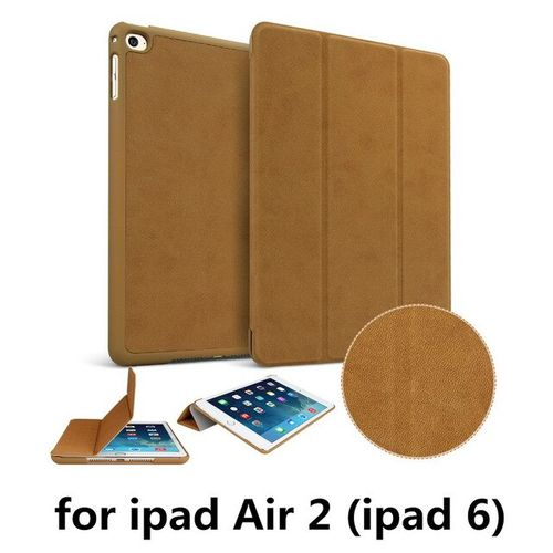 Case For Apple Ipad Air 2 Release Cover A1566 A1567-Brown