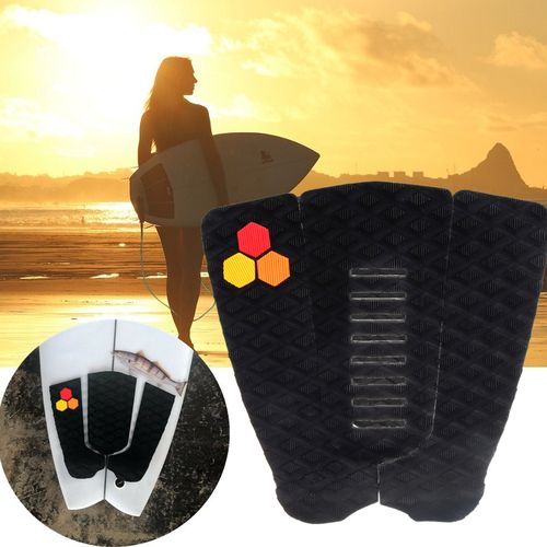 3Pcs Surfboard Traction Tail Mat Deck Grip Stomp Pad For SUP Paddleboard