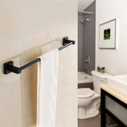 Room Wall Mounted Towel Rail Holder Shelf Storage Rack