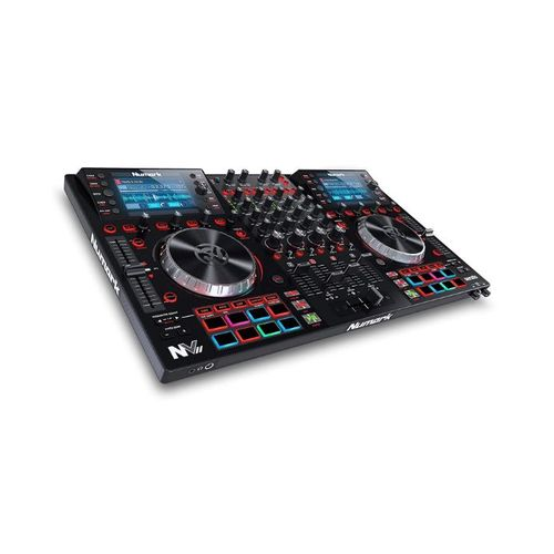 NVII DJ Controller For Serato DJ With Intelligent Dual-Display Screens & Touch-Capacitive Knobs