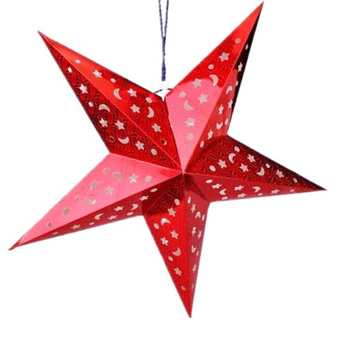 30cm Christmas Laser Star Lampshade Hanging Pentagram Ornaments