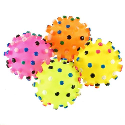 Pet Dog Puppy Cat Animal Toy Rubber Ball With Sound Squeaker Chewing Ball