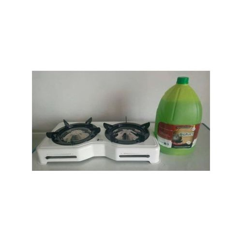 Kike Green Stove Double Burner And 3-Litre Biofuel Gel - Set Of 1