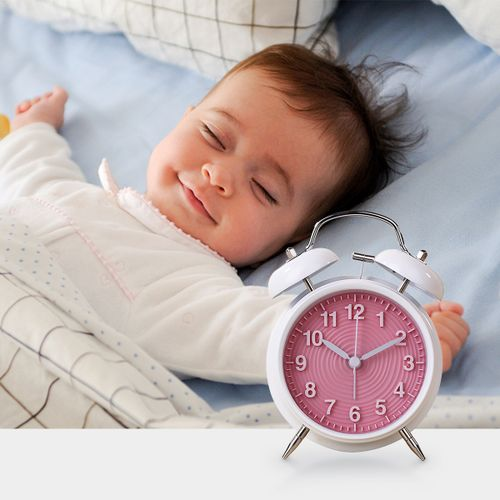 Double Bell Alarm Clock Time Bedside Colors Home Room