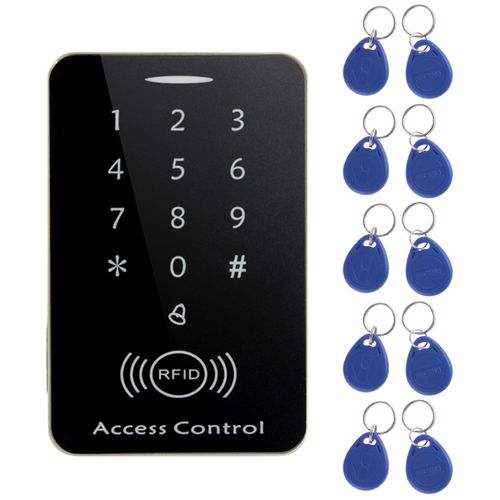 OR M203SE RFID Standalone Touch Screen Access Control Card Reader With 10pcs Keys-Black