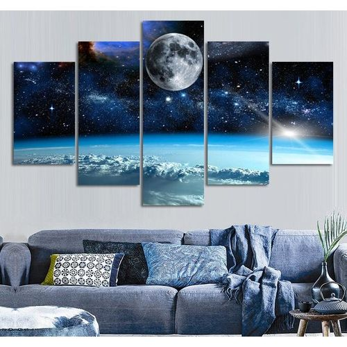5PCS Unframed Modern Art Canvas Oil Painting Picture Print Home Wall Decor -20*55cm