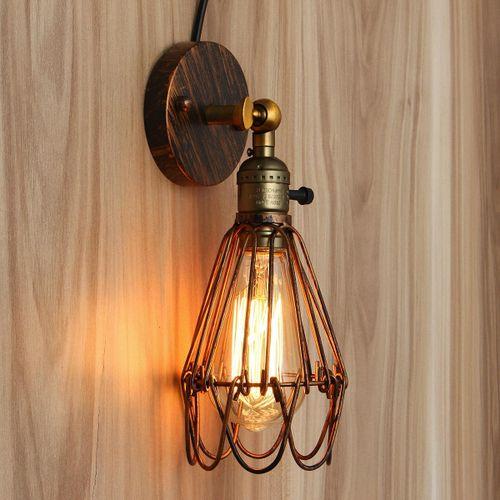 E27 Loft Metal Retro Vintage Rustic Sconce Wall Fixture Light Edsion Lamp Bulb