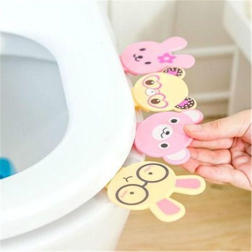 Shinewerop Cute Animal Shaped Toilet Cover Lifting Device Toilet Lid Handle Accessories