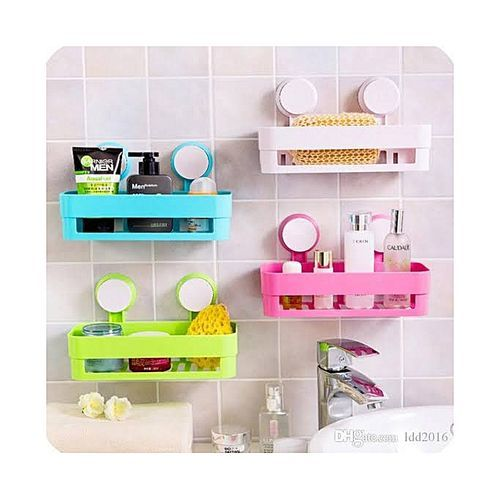 Plastic Bathroom Shelf Storage Organizer Colour Varies