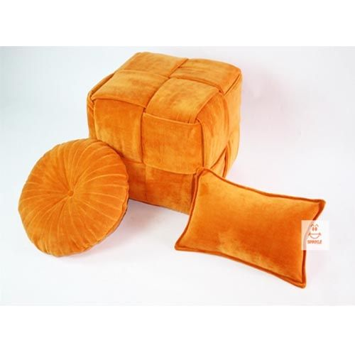 Spikkle Spikkle Luxury Woven Ottoman - Orange