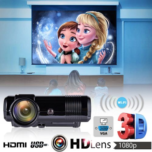 7000 Lumens Android WiFi LED Home Theater Projector TV USB HDMI 1080P Full HD AU Plug