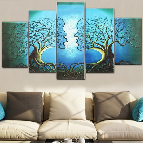 Beautiful Abstract Figure Love Tree Floral Painting Print On Canvas Huge Art
