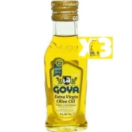 3 Goya Extra Virgin Olive Oil 88. 7ml