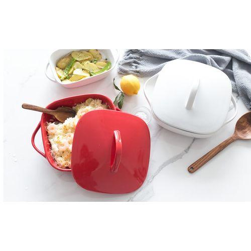 Ceramic Baking Oblong Square Baking Dish Roasting Lasagna Pan