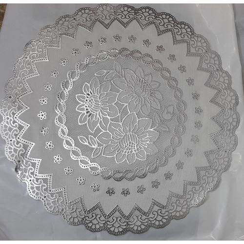 Table And Dish Mats(6pcs White 100% Virgin Vinyl)
