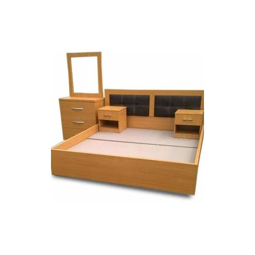 DeScotch 6 By 6 Bed+Mirror+Side Drawers-Free Lagos Delivery