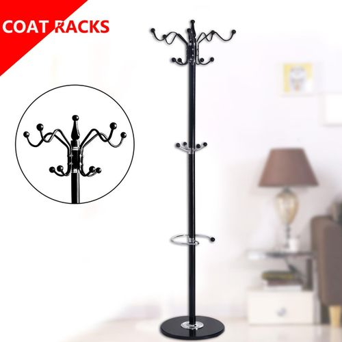 1.75M Metal Clothes Hat Coat Rack Stand Tree Hook Hanger Holder Umbrella Storage