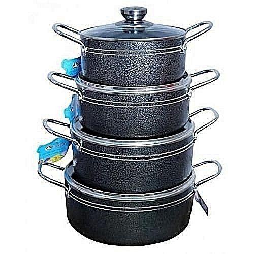 Master Chef 4 Sets Non Stick Pots - 16cm,18cm,20cm And 22cm