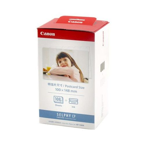 Canon Kp-108in Color Ink Paper 4 X6 Sizes,Set Passport Size