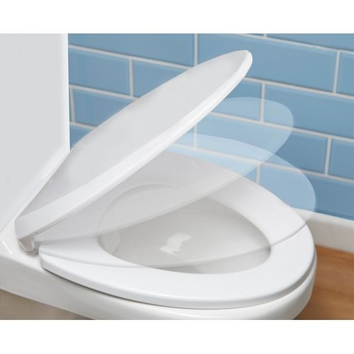 Self / Soft Closing Toilet Seat Cover For Home Office School